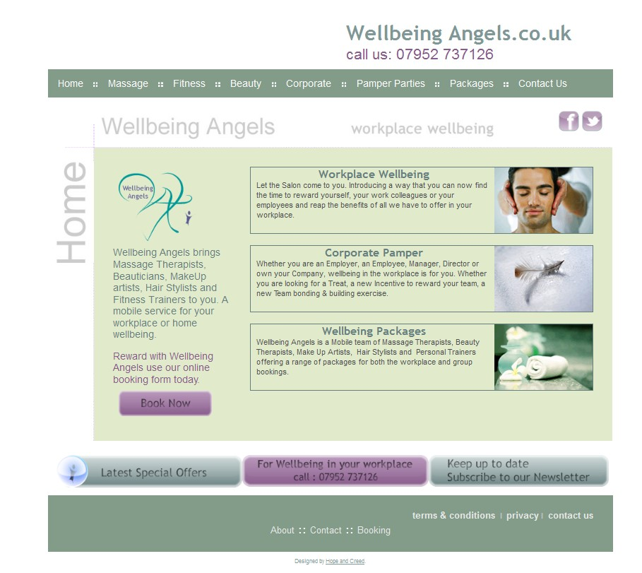 wellbeingangels.co.uk website design